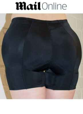 Katrina Butt and Hip Padded Panty - Black