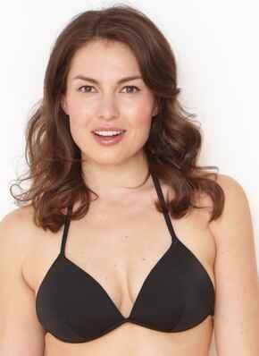 Liquorice Gel Bikini Top - Black
