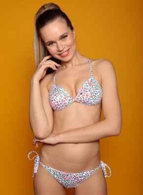 Miami Gel Bikini Set with Tie-side Briefs - Multicoloured