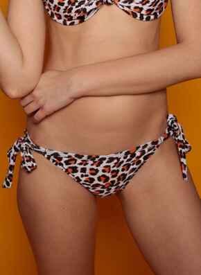 Leopard tie-side briefs