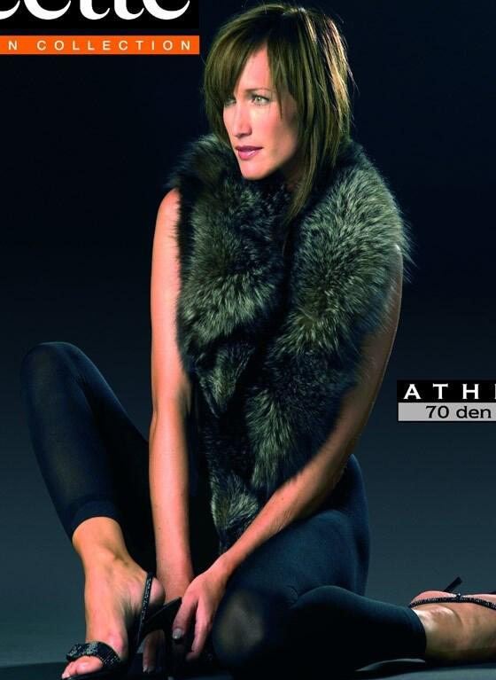 Athena Footless Tights  - Brown