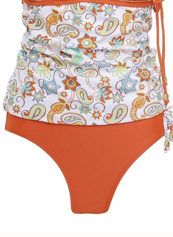Doll Face Hi-Waist Bikini Briefs - Orange