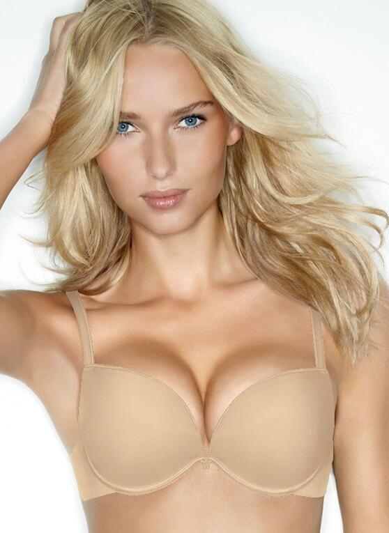 Wonderbra Full Effect Push Up Bra - nude