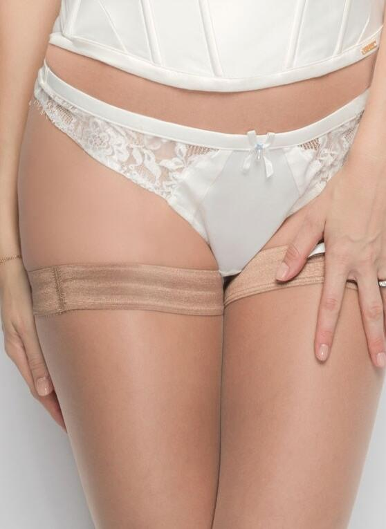 NEW Ultimo Bridal Satin Thong - Ivory
