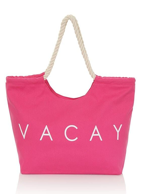 Vacay Beach Bag - Pink