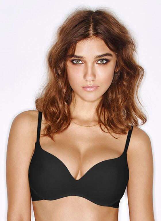 NEW Wonderbra Wireless Push-up Bra - black