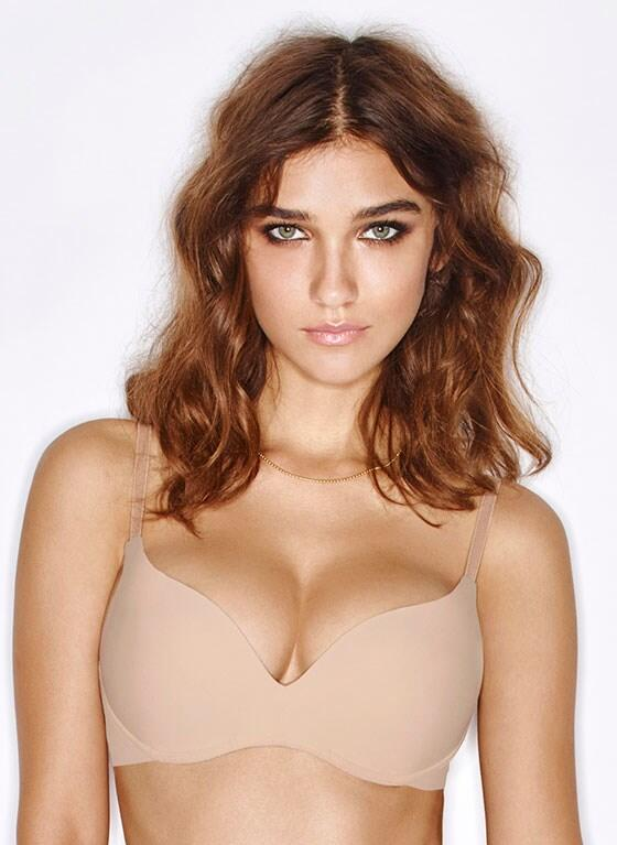 NEW Wonderbra Wireless Push-up Bra - Nude