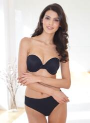 After Eden Double Gel strapless gel bra - black