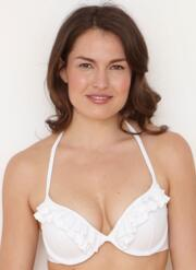 Ruffles Gel Bikini Top - White