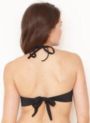 Ruffles Gel Bikini Set with Hi-Cut Briefs - Black