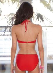 3-Piece Tankini Set with Hi-Waist Briefs - Red