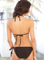 Liquorice Gel Bikini Set - Black