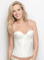 New Ultimo Bridal Satin Basque - Ivory