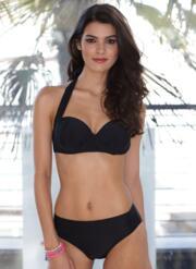 Black Strapless Classic Gel Bikini Set - Black