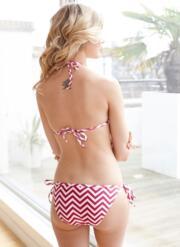 Ziggy Gel Bikini Set with Tie-Side Briefs - Pink