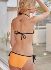 Neon Splash Orange Liquid Gel Bikini Set - Neon Orange