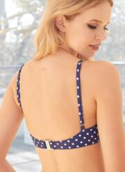 Amelie Gel Bikini Set with Tie-Side Briefs - Navy & White Polka