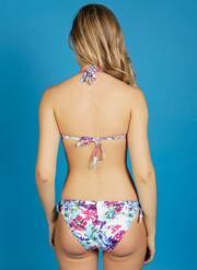 Paradise Gel Bikini Set With Faux Bow Briefs - Multicoloured