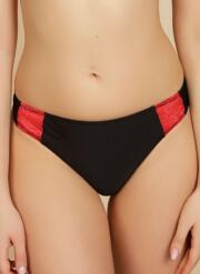 Atomic Passion Thong - Black With Red Lace