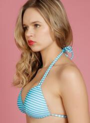 Eye Candy Gel Bikini Set with Tie-Side Briefs - Turquoise & White