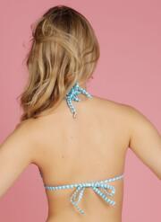 Eye Candy Gel Bikini Top - Turquoise & White