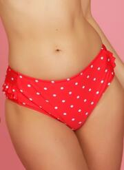 Bon Bon Retro Brief - Red & White Polka