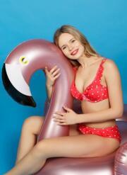 Trixie Gel Bikini Set - Red & White Polka