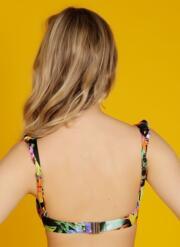 Tigerlily Frill Gel Bikini Top - Multicoloured
