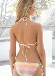 Mermaid Gel Bikini Set with Tie-Side Briefs - Patterned